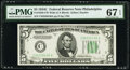 Small Size:Federal Reserve Notes, Fr. 1959-C $5 1934C Wide Federal Reserve Note. PMG Superb Gem Unc 67 EPQ.. ...