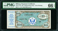 Military Payment Certificates:Series 472, Series 472 $10 Replacement PMG Gem Uncirculated 66 EPQ. ...