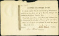 Obsoletes By State:Pennsylvania, PA - Centre Turnpike Road Share Certificate July 21, 1812 Very Fine.. ...