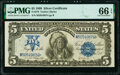 Large Size:Silver Certificates, Fr. 278 $5 1899 Silver Certificate PMG Gem Uncirculated 66 EPQ.. ...