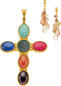 Multi-Stone, Ancient Coin, Gold Jewelry, Gurhan ... (Total: 2 Items)