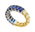 Estate Jewelry:Rings, Colored Diamond, Sapphire, Gold Eternity Band. ...