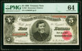 Fr. 361 $5 1890 Treasury Note PMG Choice Uncirculated 64