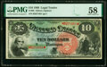 Fr. 96 $10 1869 Legal Tender PMG Choice About Unc 58