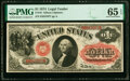 Large Size:Legal Tender Notes, Fr. 19 $1 1874 Legal Tender PMG Gem Uncirculated 65 EPQ.. ...