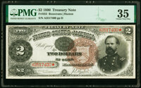 Fr. 353 $2 1890 Treasury Note PMG Choice Very Fine 35