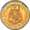 """Czechoslovakia: Republic gold """"Serial Number"""" Ducat 1923 MS65+ NGC"""