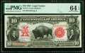 Large Size:Legal Tender Notes, Fr. 114 $10 1901 Legal Tender PMG Choice Uncirculated 64 EPQ.. ...