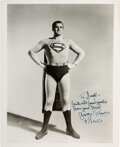 Movie/TV Memorabilia:Autographs and Signed Items, George Reeves Signed and Inscribed Photo. ...