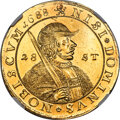 Netherlands:Friesland, Netherlands: Friesland. Provincial gold 28 Stuivers (5 Ducat) 1688-(Lion) UNC Details (Removed From Jewelry) NGC,