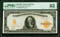 Fr. 1169 $10 1907 Gold Certificate PMG Choice Uncirculated 63