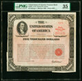 Miscellaneous:Other, $5,000 U.S. Treasury Bearer Bond 1960 PMG Choice Very Fine 35.. ...