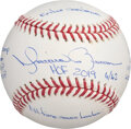 Baseball Collectibles:Balls, Mariano Rivera Single Signed & Inscribed Limited Edition Baseball - Multiple Inscriptions & Hand Numbered 4/42....