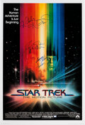 Movie/TV Memorabilia:Autographs and Signed Items, Star Trek: The Motion Picture Theatrical One-Sheet Signed by Main Cast....