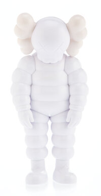 KAWS (b. 1974) What Party (White), 2020 Painted cast 11-1/2 x 5-1/2 x 3-1/4 inches (29.2 x 14 x