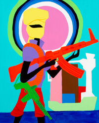 Todd James (b. 1969) Trade Agreement, 2012 Acrylic on canvas 30 x 24 inches (76.2 x 61 cm) Sig