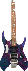 Musical Instruments:Electric Guitars, Metallica Signed Electric Guitar. . ...