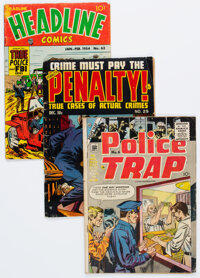 Golden Age Crime Comics Group of 8 (Various Publishers, 1950s) Condition: Average GD/VG.... (Total: 8 Comic Books)