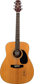 Musical Instruments:Acoustic Guitars, Johnny Cash Signed Acoustic Takamine Guitar. . ...
