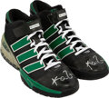 Basketball Collectibles:Others, 2009-10 Kevin Garnett Game Worn & Signed Boston Celtics Sneakers....