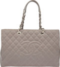 """Luxury Accessories:Bags, Chanel Lavender Quilted Caviar Leather Grand Shopping Tote XL Bag with Silver Hardware. Condition: 3. 16.5"""" Width x 10..."""