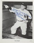Baseball Collectibles:Photos, 1960's Casey Stengel Signed & Inscribed Photograph to Bill Fundaro from The Bill Fundaro Collection....