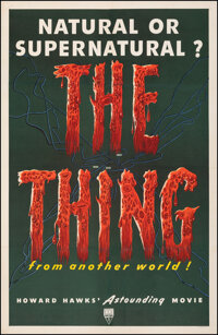 """The Thing from Another World (RKO, 1951). Fine on Linen. One Sheet (26.75"""" X 41.25""""). Science Fiction"""