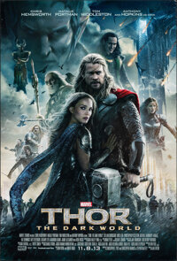 "Thor: The Dark World & Other Lot (Walt Disney Studios, 2013). Rolled, Fine/Very Fine. One Sheets (2) (27"" X 40&..."