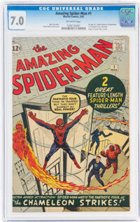 The Amazing Spider-Man #1 (Marvel, 1963) CGC FN/VF 7.0 Off-white pages