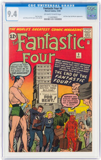 Fantastic Four #9 (Marvel, 1962) CGC NM 9.4 Off-white to white pages