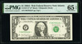 Small Size:Federal Reserve Notes, Fr. 1917-F* $1 1988A Web Federal Reserve Star Note. PMG Gem Uncirculated 65 EPQ.. ...