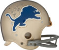Football Collectibles:Helmets, 1975 Lem Barney Game Worn & Signed Detroit Lions Helmet from The Bill Fundaro Collection....