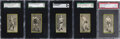 Boxing Cards:General, 1910 T226 Red Sun Cigarettes Boxing Card Collection (5)....