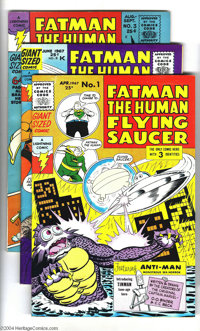 Fatman, the Human Flying Saucer #1-3 Group (Lightning Comics, 1967) Condition: Average FN-. This lot consists of issues...