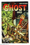 Golden Age (1938-1955):Horror, Ghost #9 (Fiction House, 1953) Condition: VG/FN. Bondage cover.Jack Able and William Discount art. Overstreet 2004 VG 4.0 v...