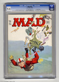 Magazines:Mad, Mad #106 Gaines File pedigree (EC, 1966) CGC NM 9.4 Off-white to white pages. Norman Mingo cover. Frank Frazetta back cover....