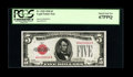 Small Size:Legal Tender Notes, Fr. 1525 $5 1928 Legal Tender Note. PCGS Superb Gem New 67PPQ.. ...