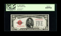 Small Size:Legal Tender Notes, Fr. 1525 $5 1928 Legal Tender Note. PCGS Gem New 65PPQ.. ...