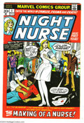 Bronze Age (1970-1979):Romance, Night Nurse #1 (Marvel, 1972) Condition: VG/FN. Winslow Mortimerart. Overstreet 2004 VG 4.0 value = $22; FN 6.0 value = $33...