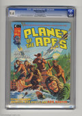 Magazines:Science-Fiction, Planet of the Apes (Magazine) #4 (Marvel, 1975) CGC NM 9.4Off-white to white pages. Ron Harper interviewed by ChrisClaremo...