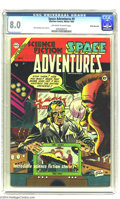 Golden Age (1938-1955):Science Fiction, Space Adventures #9 (Charlton, 1954) CGC VF 8.0 Off-white to whitepages. Dick Giordano cover and art. This is the only copy...