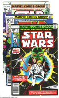 Bronze Age (1970-1979):Science Fiction, Star Wars Group (Marvel, 1977-79) Condition: Average FN. This group includes #1-4, two copies each of #5 and #6, three copie... (Total: 39 Comic Books Item)