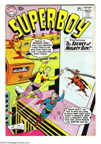 Superboy #85 (DC, 1960) Condition: VF-. Curt Swan cover. Bernard Baily, George Papp, and Henry Boltinoff art. Overstreet...