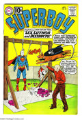Silver Age (1956-1969):Superhero, Superboy #92 (DC, 1961) Condition: FN+. Last 10¢ issue. Curt Swan cover. Swan, Henry Boltinoff, and George Papp art. Brown p...