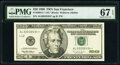 Small Size:Federal Reserve Notes, Fr. 2084-L* $20 1996 Federal Reserve Star Note. PMG Superb Gem Unc 67 EPQ.. ...