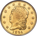 Early Quarter Eagles, 1824/1 $2 1/2 BD-1, R.5, AU58 NGC....