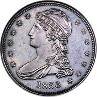 1836 50C Reeded Edge PR63 NGC. GR-1, Low R.7 as a proof....(PCGS# 6223)