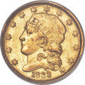 Early Quarter Eagles, 1833 $2 1/2 BD-1, R.5, AU53 PCGS....