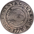 Colonials, 1776 $1 Continental Dollar, CURENCY, Pewter, AU50 PCGS. Newman 1-C, W-8445, R.3....
