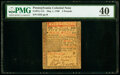 Colonial Notes:Pennsylvania, Pennsylvania May 1, 1760 £5 PMG Extremely Fine 40.. ...